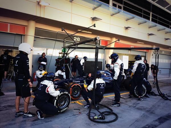 Williams pitstop test bahrain