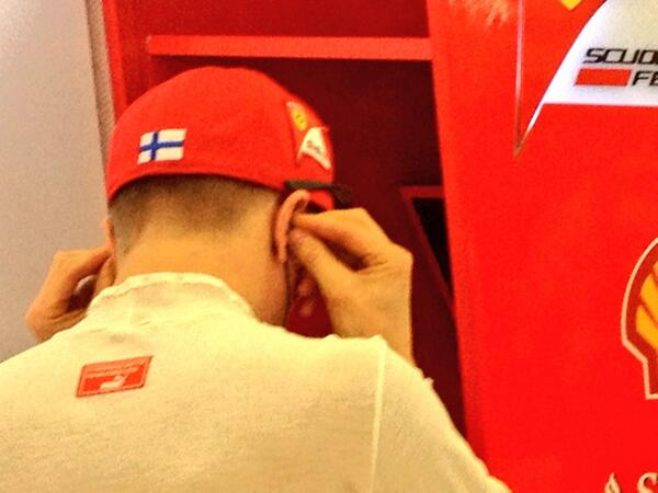 Kimi Raikkonen (Ferrari) Test Bahrain F1