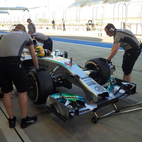 Lewis Hamilton (Mercedes) Test Bahrain