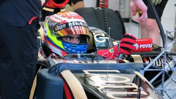 Pastor Maldonado (Lotus) Test Bahrain F1