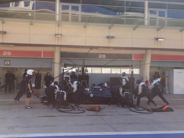 Williams pitstop Bahrain