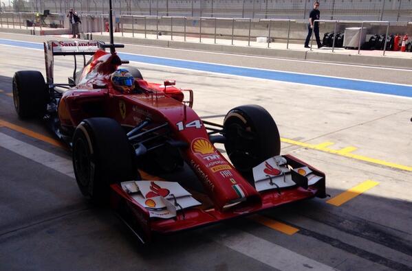Alonso (Ferrari) Test F1 Bahrain