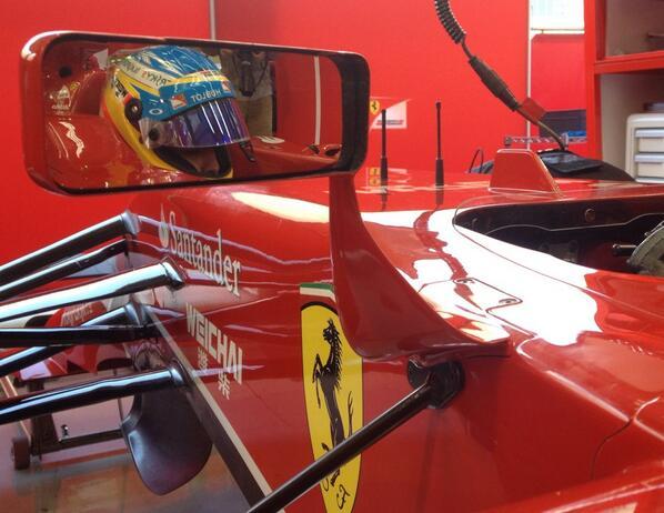 Alonso test Bahrain F1