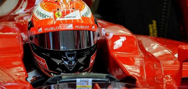 Kimi Raikkonen (Ferrari F14 T) Test F1 Bahrain