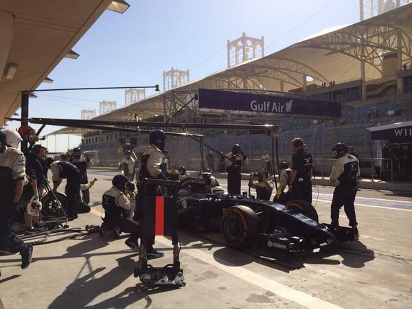Williams prove pitstop Bahrain