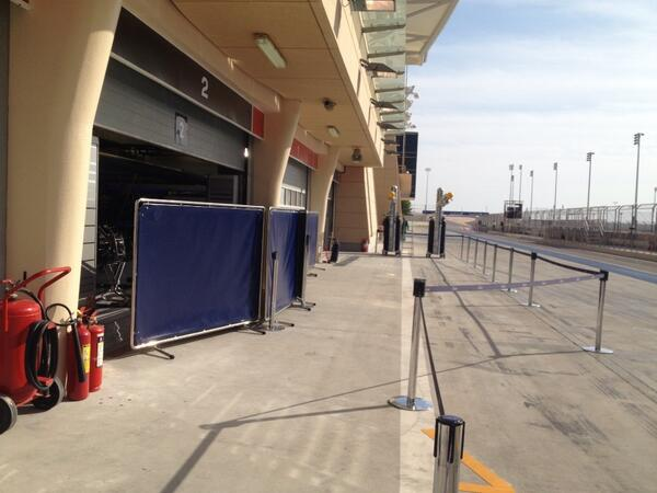 Box Red Bull test Bahrain