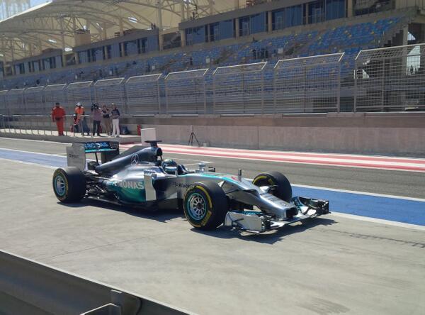 Nico Rosberg (Mercedes W05) Test F1 Bahrain