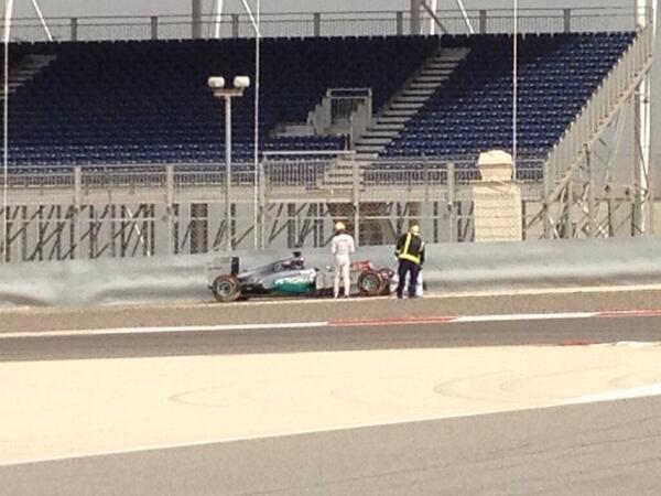 Hamilton incidente Bahrain