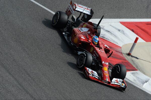Fernando Alonso (Ferrari F14 T) Test Bahrain