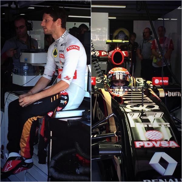 Maldonado e Grosjean