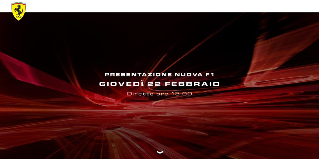 F1   Cresce l'attesa per la nuova Ferrari: lanciata la piattaforma streaming per la presentazione di domani